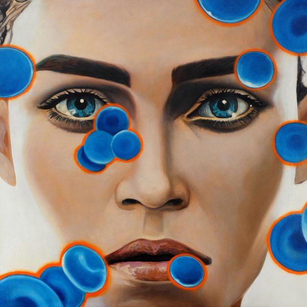 Blue Blood Cells 5 100x100cm